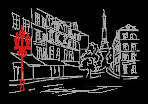 illustration-paris-lampadaire-rouge-a-la-recherche-du-temps-present-blog